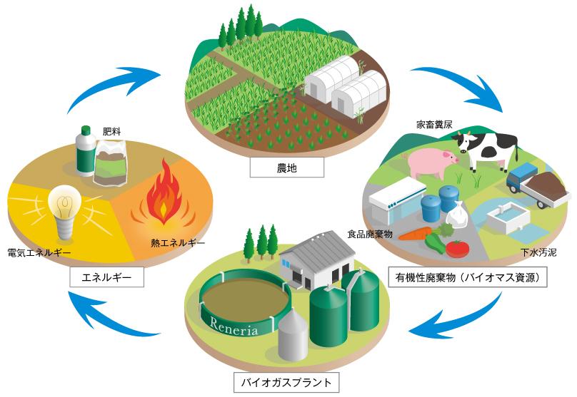 バイオガス事業による循環型社会